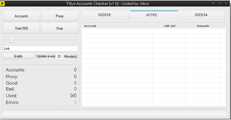 Tillys Accounts Checker Checker [v1.0] – Coded by Mico